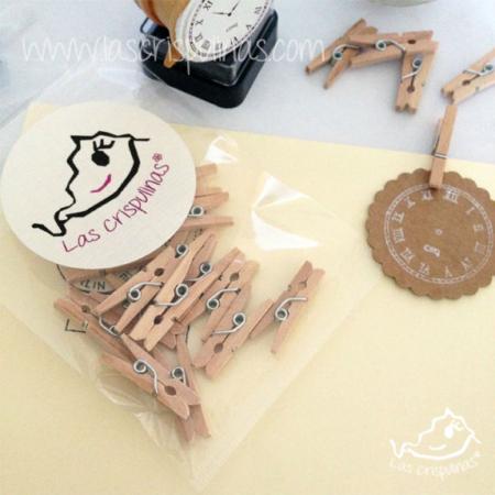 Mini pinzas madera Par de 3 Studio Shop
