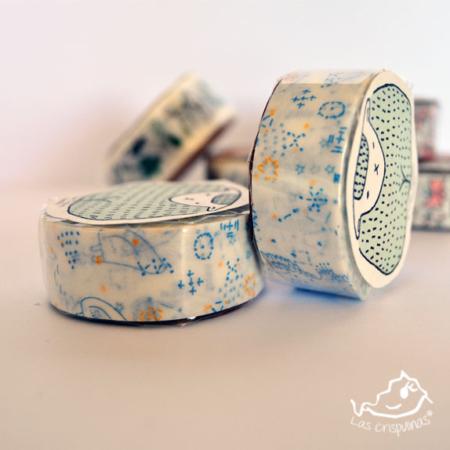 washi tape classiky cielo azul Par de 3 Studio Shop