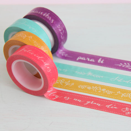 washi tape mint little hannah Par de 3 Studio Shop