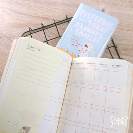 Par de 3 studio agenda pony brown celeste