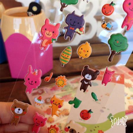Pegatinas animalitos Par de 3 Studio shop