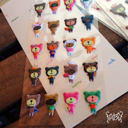 Pegatinas osos Par de 3 Studio shop