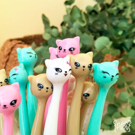 Par de 3 Studio bolígrafos gatitos