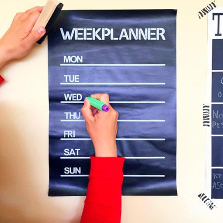 Par de 3 Studio planificador semanal vinilo