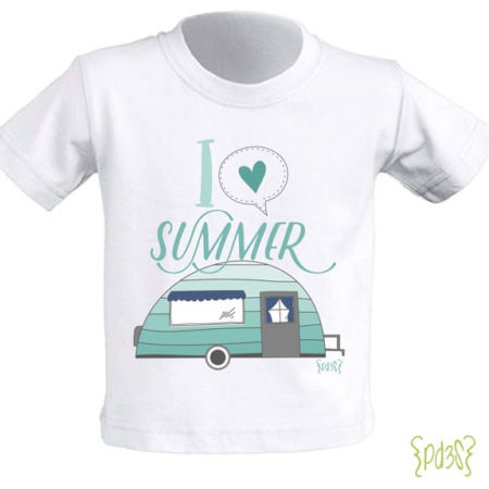 Par de 3 studio camiseta i love summer