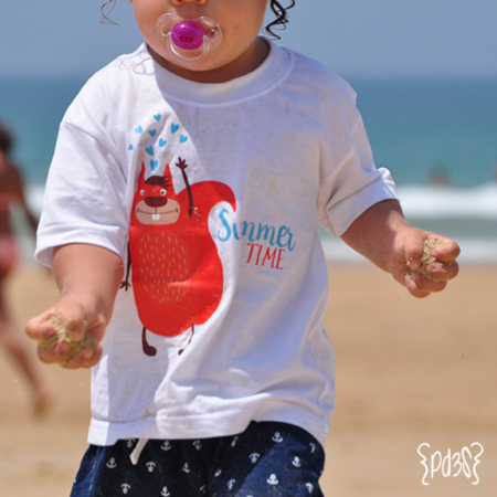 Par de 3-studio camiseta summer time castor