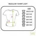 Par de 3 studio medidas camiseta mujer