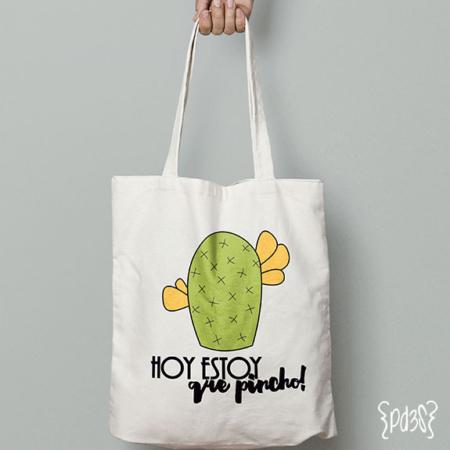 par de 3 studio tote bag cactus