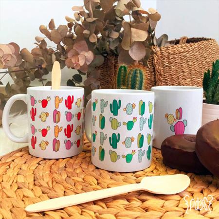 par de 3 studio taza cactus