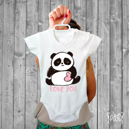 Par de 3 Studio Shop body love you panda