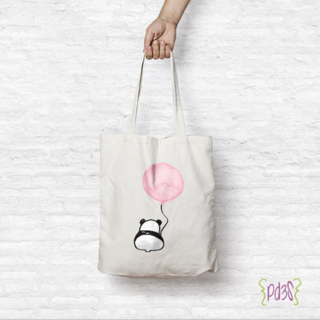 Par de 3 Studio Shop tote bag panda