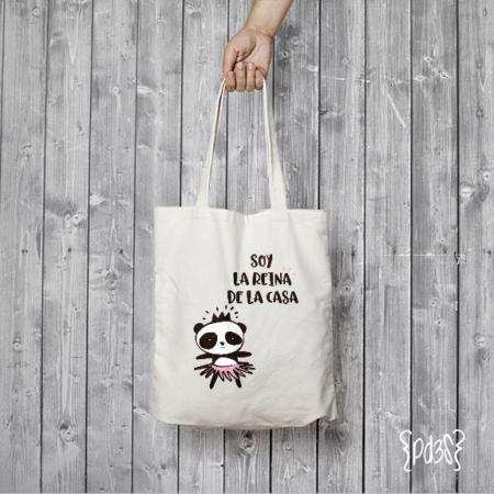 Par de 3 Studio Shop tote bag panda reina casa