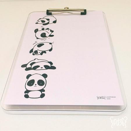 par de 3 studio lamina pandas