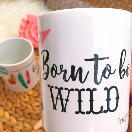 par de 3 studio taza born to be wild