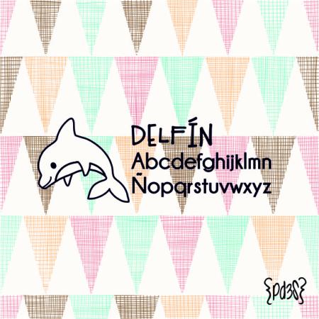 Par de 3 Studio sello marca ropa delfin
