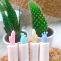 Par de 3 studio boligrafo cactus pastel