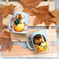 par de 3 studio autumn taza erizo