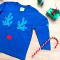 par de 3 studio camiseta infantil reno