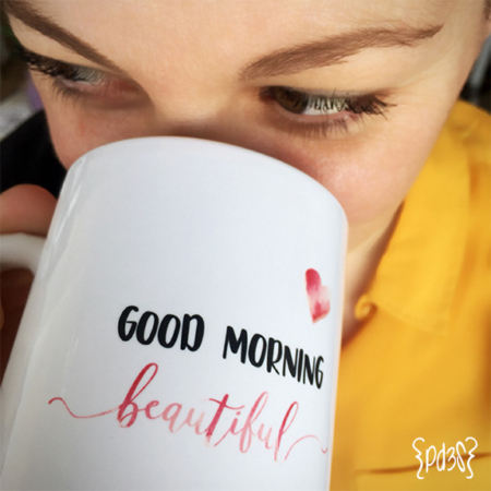 Par de 3 studio taza good morning