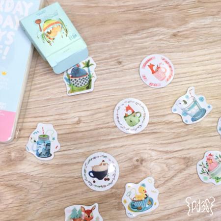 Par de 3 Studio stickers animales