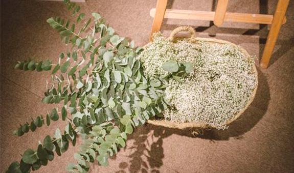 par de 3 studio cestas flores