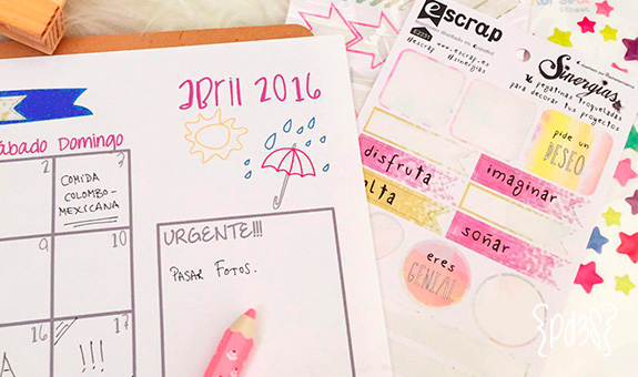 par de 3 studio calendario abril