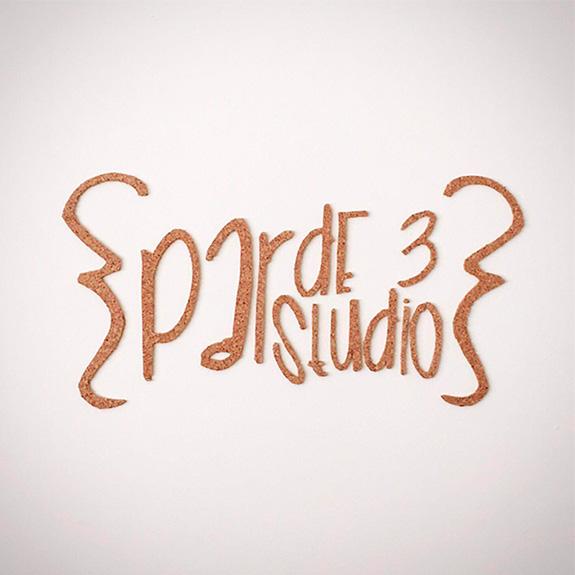 par de 3 studio logo corcho