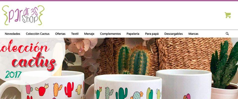 par de 3 studio coleccion cactus