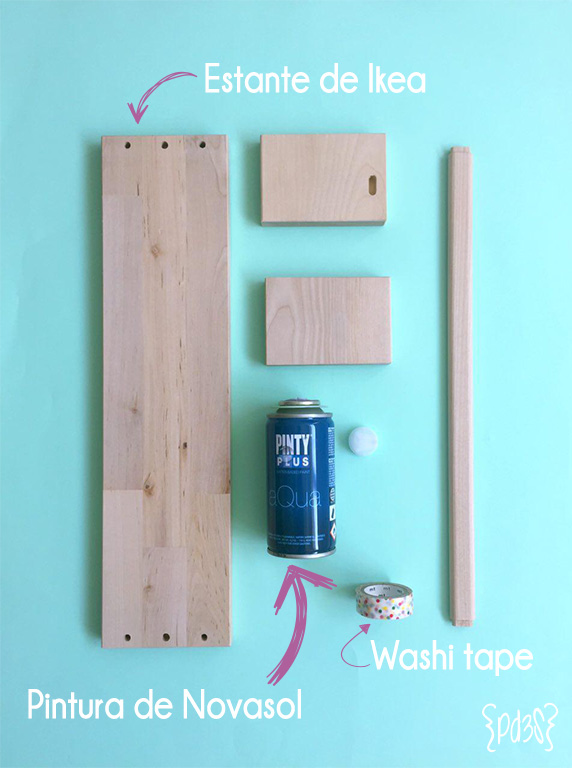 par de 3 studio diy estante