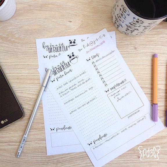 Par de 3 studio planificador diario panda