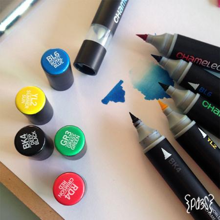 Par de 3 Studio shop chameleon pen