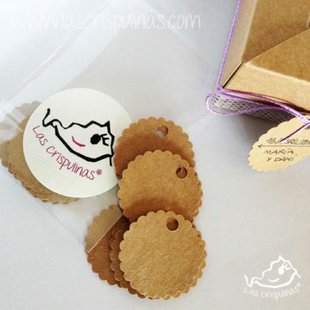 Etiquetas Craft redondas Par de 3 Studio Shop