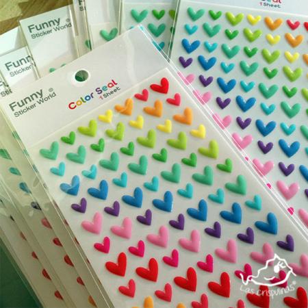 Pegatinas corazones Par de 3 Studio Shop