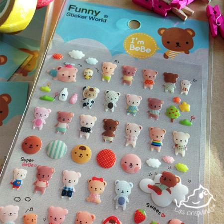 Pegatinas osos bebés Par de 3 Studio Shop