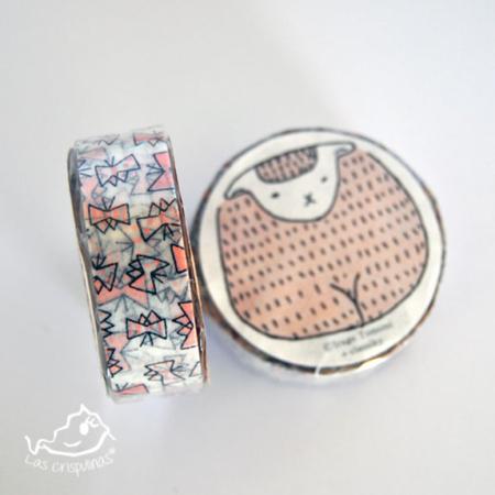 washi tape classiky lazos rosas Par de 3 Studio Shop