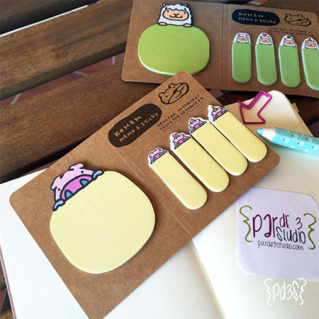post it animal Par de 3 Studio shop