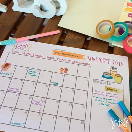 Par de 3 Studio descargable calendario noviembre