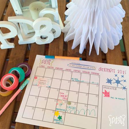 Par de 3 Studio descargable calendario diciembre