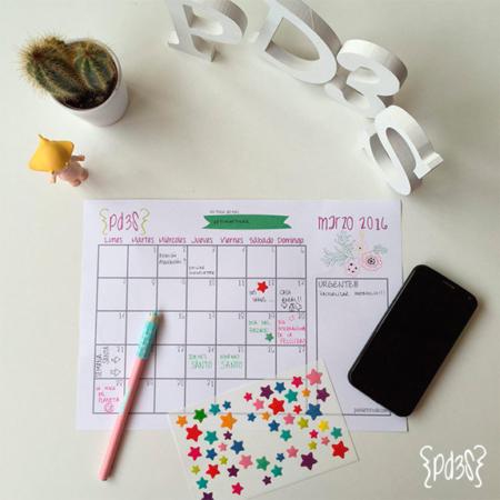 Par de 3 Studio descargable calendario marzo