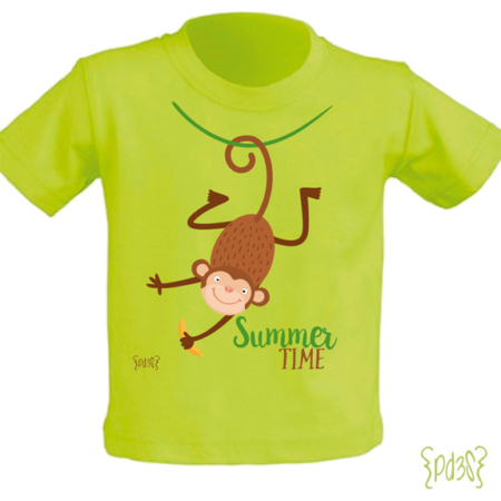Par de 3 studio camiseta summer time mono