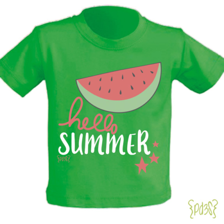 Par de 3 studio camiseta-hello-summer