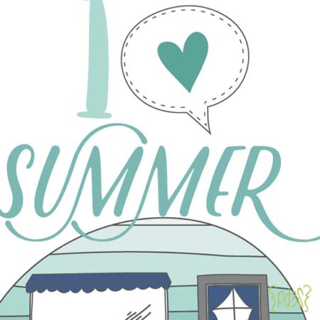 Par de 3 studio i love summer