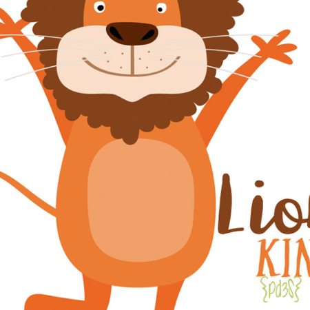 Par de 3 studio body lion king
