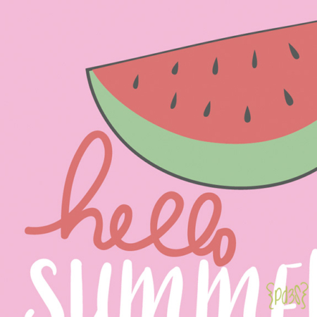 Par de 3 studio body hello summer sandia