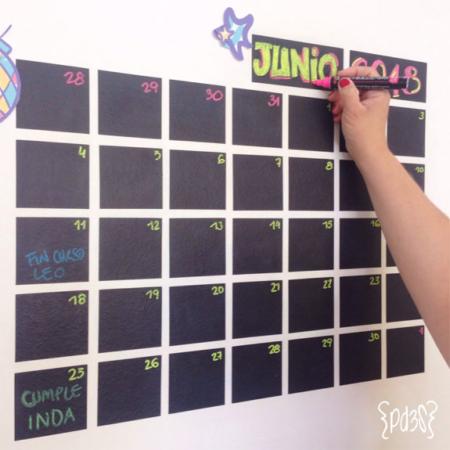 Par de 3 Studio Shop calendario mensual vinilo
