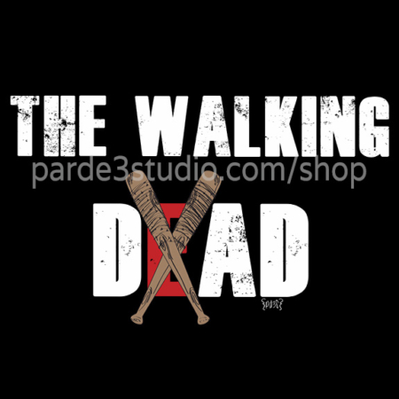 Par de 3 Studio sudadera papa the walking dad negra