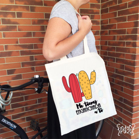 par de 3 studio tote bag enganchada