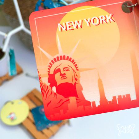 par de 3 studio llavero cuadrado new york