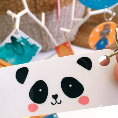 par de 3 studio llavero rectangular panda