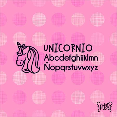 Par de 3 Studio sello marca ropa unicornio